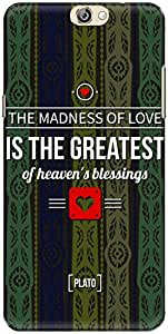 The Racoon Grip Blue Love Madness hard plastic printed back case/cover for Coolpad Max