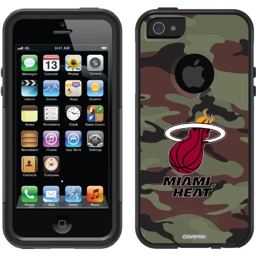 Special Sale Miami Heat - Camo design on a Black OtterBox® Commuter Series® Case for iPhone 5s / 5