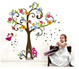 Walplus Kid Angels Tree Home Flowers Paper Nursery Children Girls Room Wall Stickers