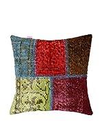 HF LIVING Funda De Cojín Vintage Patchwork (Multicolor)