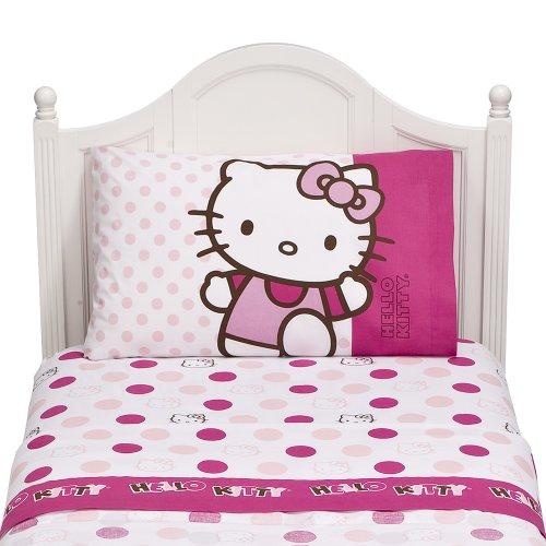 Hello Kitty Dots Twin Sheet Set