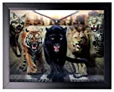 Animals - Iconic 3D High Definition Wall Art 44x34cm - Luxury Unique Christmas Xmas Gift Ideas, 18th 21st 30th 40th 50th 60th 70th 80th 90th Birthday Gifts, Retirement Thank You Wedding Anniversary Engagement Presents for Her Women Mum Wife Girls Nanna S