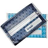Buti-pods Slim Wet Wipes Dispenser and Travel Case Holder, 2-pack (navy turquoise prints)