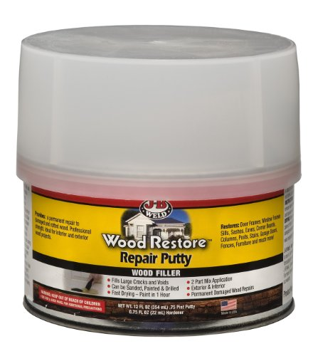 J-B Weld 40003 Wood Restore Repair Putty - 12 oz