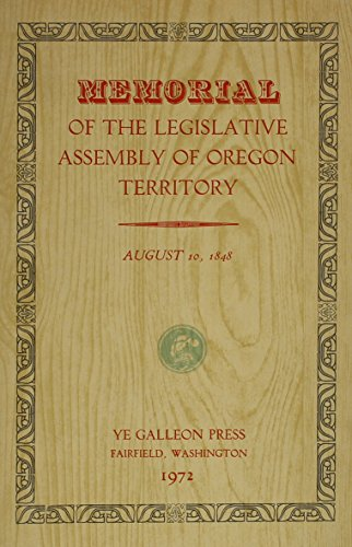 Memorial of the Legislative Assembly of Oregon Territory
