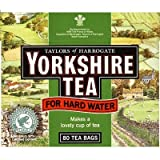 YORKSHIRE TEABAGS FOR HARD WATER 80 TEA BAGS