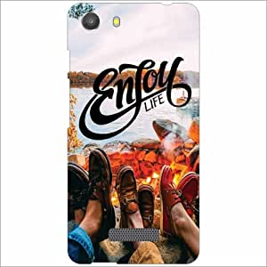 Micromax Unite 3 Q372 Back Cover - Silicon Enjoy Designer Cases