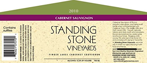 2010 Standing Stone Vineyards Finger Lakes Cabernet Sauvignon 750 Ml