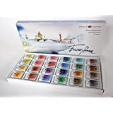24 WHITE NIGHTS PROFESSIONAL Watercolours Paint Set Russian Nevskaya Palitra (Color: Different)