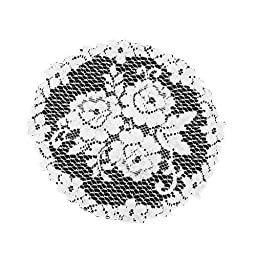 Heritage Lace Victorian Rose 11-Inch Doily, White, Set of 3
