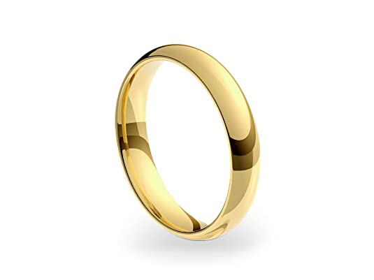 9ct Yellow Gold Medium Court 4mm Wedding Ring