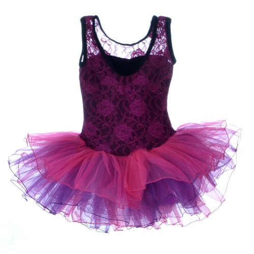 DD-CM Little Girls' Ballet Dance Costume Lace Princess Party Tutu Dress
