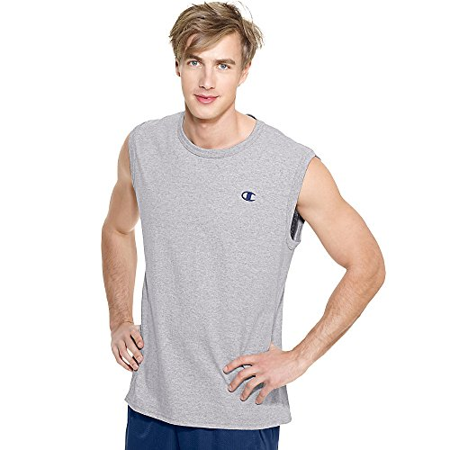 Champion Cotton Jersey Men's Muscle T-Shirt_Oxford Grey_X-Large