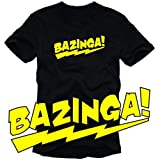 "Coole-Fun Men's T-Shirt ""Bazinga!"" - Black, Lby Coole-Fun-T-Shirts"