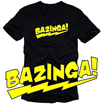 Coole-Fun-T-Shirts T-Shirt Bazinga !, schwarz-gelb, S, 10630_schwarz-gelb_GR.S