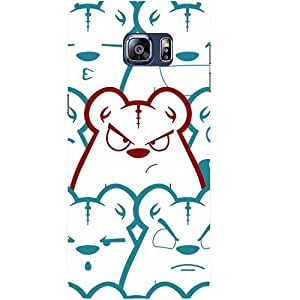 Casotec Bear Emotions Design Hard Back Case Cover for Samsung Galaxy S6 edge Plus