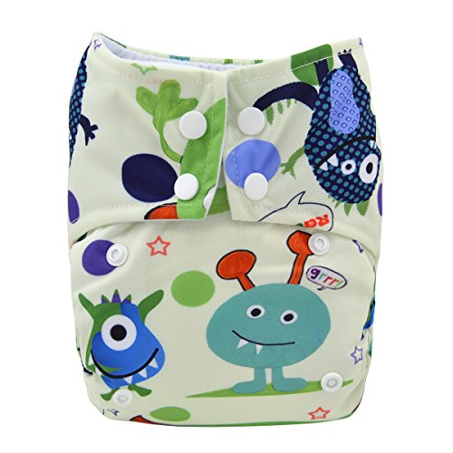 Alva Baby Pocket Aio Reuseable Washable Cloth Diaper Nappy Aio-S45