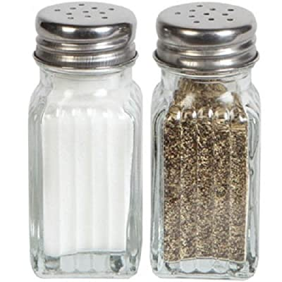 1 X Glass Salt & Pepper Shaker Set