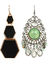 Jazz Jewellery Gold And Silver Plated Combo Alloy Earrings For Women And Girls