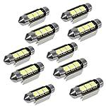 10X 36MM AMPOULE LAMPE 3 LED 5050 SMD...