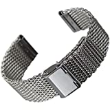 Stainless Steel Watch Band, Milanese Mesh, 20mm