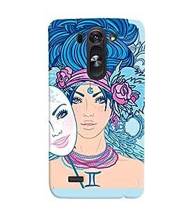 Fuson Amazing Girl Back Case Cover for LG G3 BEAT D722K - D3919