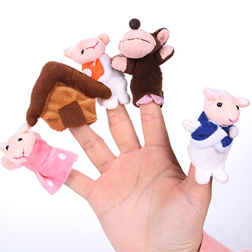 "Foto4easy Nursery Rhyme Toys Story Telling ""Seven Lambs and Wolves "" Finger Puppets (10 Pieces)"