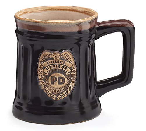 Police Officer PD Porcelain Coffee Mug Christmas Gift Law ...