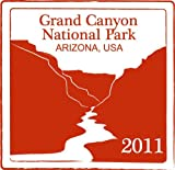 Grand Canyon National Park Arizona Usa National Travel Stamp Bumper Sticker Decal 12 x 12 cm