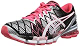 Asics T3E9Y Women's GEL-KINSEI 5 Running Shoes, Blk/Snow/Diva Pnk, 6H/ UK:SIZE 4.5 B(M)