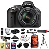 Nikon D5200 Digital SLR Camera & 18-55mm G VR DX AF-S Zoom Lens (Black) With 47th Street Photo Best Value Essentials Kit - Includes 64GB Transcend High Speed Memory Card + Card Reader + 2 Additional Extended Life EN-EL14 Battery Packs + Dual AC DC Rapid Travel Charger + Professional 5 Piece Filter Kit (UV - CPL - FL - ND4 and 10x Macro Lens) + HDMI Cable + Wireless Remote + Nikon Deluxe Backpack Carrying Case + Professional Photo Video 70