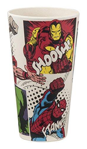 Vandor unisex, per adulti, motivo: Marvel Comics, 2 pezzi, in bambù, Set 24 oz Bicchiere Standard