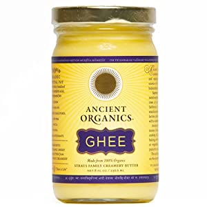 100% Organic Ghee from Grass-fed Cows, 8oz Jar