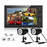 FLOUREON High Quality Wireless 4 Channel 2.4GHz CCTV DVR Monitor Kit...
