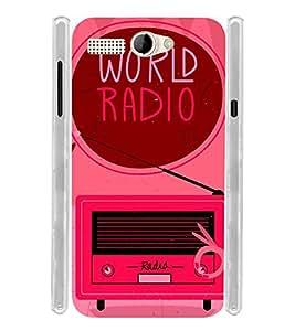 World Radio Music Soft Silicon Rubberized Back Case Cover for Intex Aqua 3G Pro