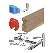 Prime Line Prod. 221377 Wood Drawer Track Kit-WOOD DRAWER TRACK