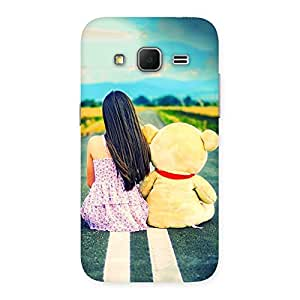 Enticing Girl Teddy Multicolor Back Case Cover for Galaxy Core Prime