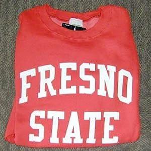 Fresno State Bulldogs Crewneck Sweatshirt, Red by SportShack INC