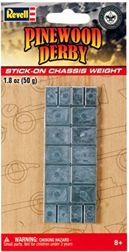 Revell Pinewood Derby Stick On Chassis Weight - 1