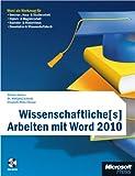 Image of Wissenschaftliche[s] Arbeiten mit Word 2010