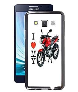 Fuson 2D Printed Bike Designer Back Case Cover for Samsung Galaxy A3 - D771