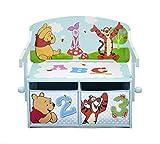 Winnie-the-Pooh-Sitzbank-Schreibtisch-mit-Stauraum-Blau