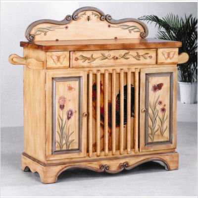 Picture of AA Importing Country Rooster Sideboard in Light Brown (B003UQOEO4) (Sideboards)