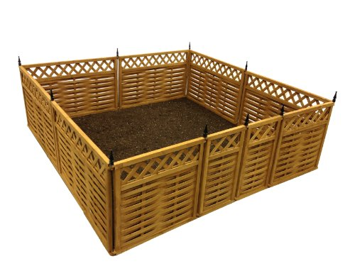 terra-garden-fence-gf-7-protect-beautify-32-feet-of-fencing-included-animal-barrier