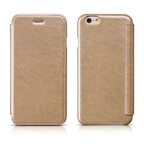 Images for iVAPO Iphone 6 4.7''Classic Retro Case, Lightweight Premium Cover, Flip Case For Iphone6 4.7inch (MM487) (Gold)
