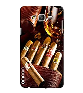 Omnam Bunch Of Cigar With Wine Glass Printed Designer Back Cover Case For Samsung Galaxy On 5