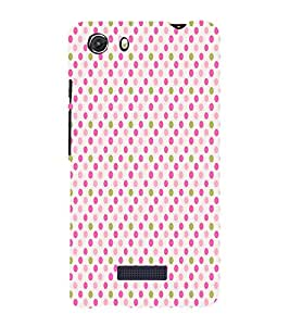 Pink Gold Fun Pattern 3D Hard Polycarbonate Designer Back Case Cover for MIcromax Canvas Unite 3 Q372