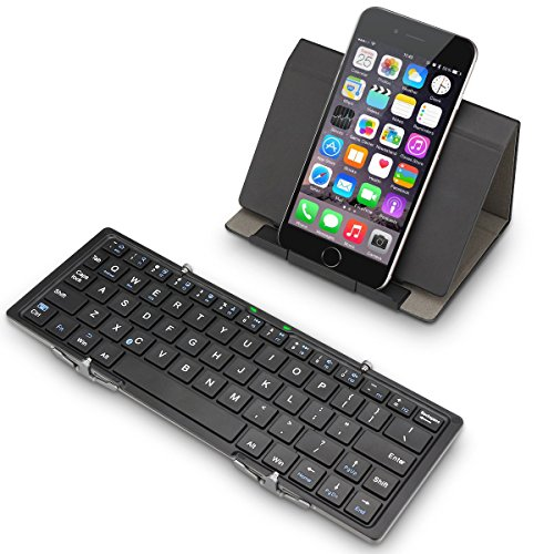 EC Technology Foldable Bluetooth Keyboard for iOS, Android, Windows, other Smartphones, PC, Tablets