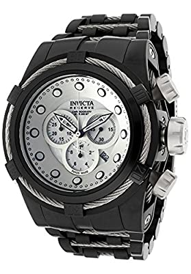 Invicta Men's 12736 Bolt Reserve Chronograph Mother-Of-Pearl Dial Black Ion-Plated Stainless Steel Watch