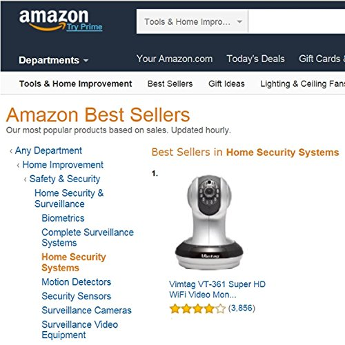 Vimtag® [Top 1 Security Camera in U.S] HD Wi-Fi Smart Cloud Network IP Camera,High-Quality with More Function, Wireless Day Night Pan/Tilt&Zoom Baby&Pet Monitor, Two-Way Audio, Built-in Mic & Speaker, Motion Detection&Super Night Vision,Support multiple-users(VT-361 Silver)